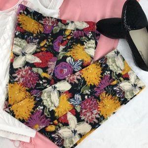 Elevenses | Anthropologie floral capris slacks